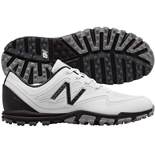 New Balance Women's Minimus WP Waterproof Spikeless Comfort Golf Shoe, White/Black, 8 M US