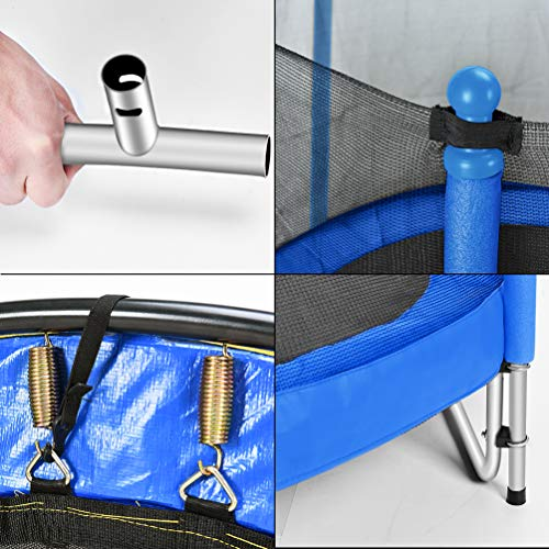 Fashionsport OUTFITTERS Trampoline with Safety Enclosure -Indoor or Outdoor Trampoline for Kids-Blue-5FT by Fashionsport OUTFITTERS (Image #6)