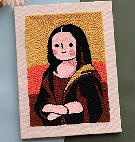 Punch Needle Embroidery Kits Threader Soft Yarn Beginners DIY Craft Home Decor