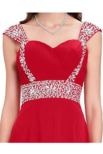 Promkleid Damen Steine A Lang Festkleider Abendkleider Traeger Ivydressing Linie Fuchsie Chiffon HUpqTn8