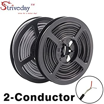 Striveday™ 2547 24 AWG 10 Meter Grey 2-core Control Cable Copper Wire Shielded Audio Cable Headphone Cable Signal Line