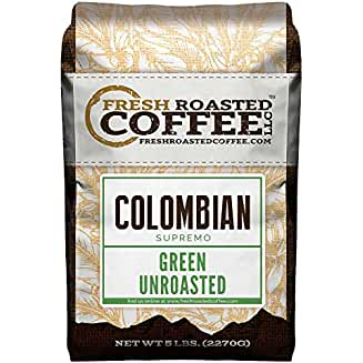 100% Colombian Supremo Unroasted Green Coffee