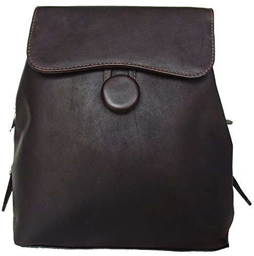 Piel Leather Ladies Backpack in Chocolate