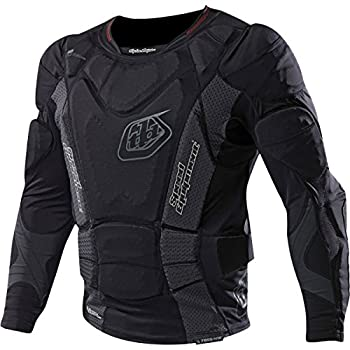 Image of Chest Protectors Troy Lee Designs UPL7855 HW Long Sleeve Youth Boys Undergarment Off-Road Body Armor - Black/Large