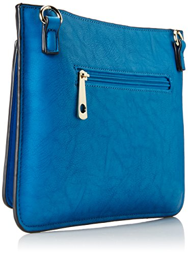 Body Collection MG Felicia Bag Cross Turquoise vq76U