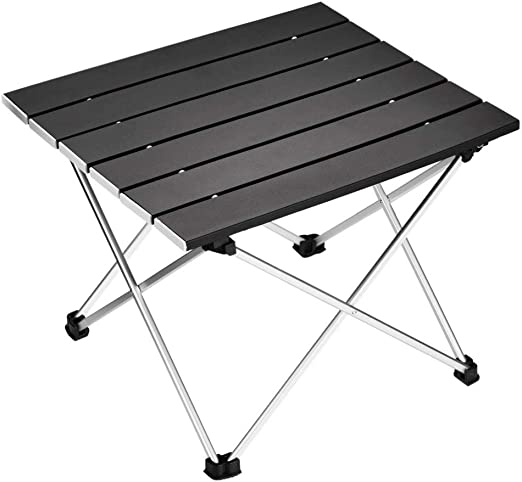 Kimmyer Mesa de Camping Plegable de Aluminio, compacta portátil ...