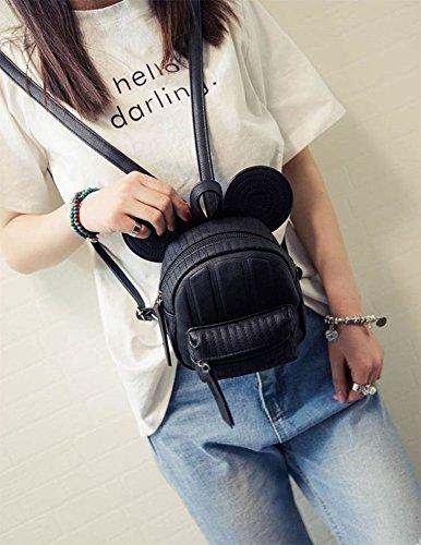 ModaKeusu Casual Purse Fashion Mikey School Leather Backpack Shoulder Bag Mini Backpack for Women & Girls by ModaKeusu (Image #2)
