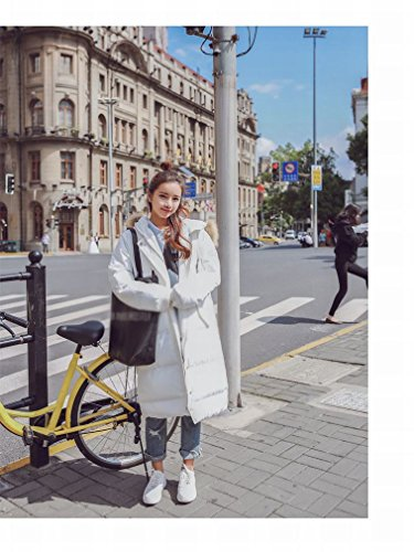 Winter White of Wool Section Warm Jacket in Women Thickening HF Long Coat Tide Clothing Cotton the Collar Section down dUqUSwR