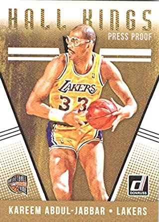 8143599f831 2018-19 Donruss Hall Kings  12 Kareem Abdul-Jabbar Los Angeles Lakers  Basketball