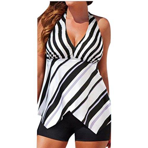 NEARTIME Swimwear Women, Hot Elegant Bandage Tankini Sets with Boy Shorts Ladies Two Piece Swimsuits (XL, - Underwire Elegant