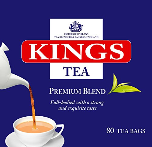 Full Flavor King - Kings Tea, Premium English Tea,160 Count, 500g, 2 Boxes of 80s, 2 Cups Tea