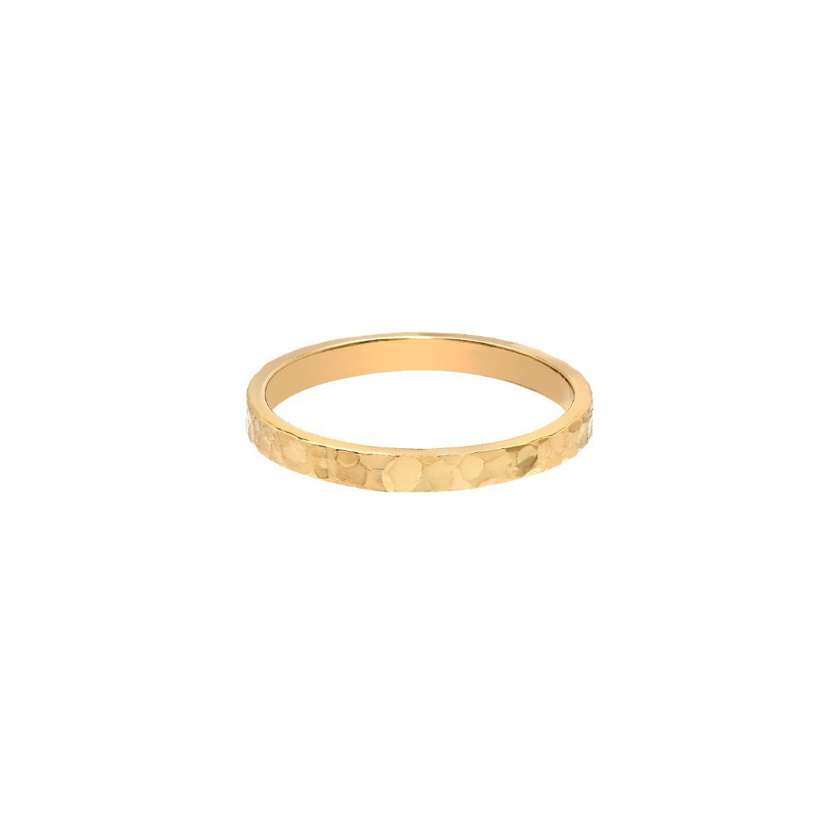 Tousi Jewelers Hammered Ring- Solid 14k or 18k Yellow Gold Wedding Bands Jewelry for Women- Free Personalized and Engraved Name and Initial or Message