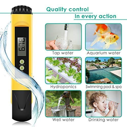 MiToo Digital, 0.01 High Accuracy Pocket Size Meter/PH 0-14.0 Measuring Range, Quality Tester for Household Drinking Water, Swimming Pools, Aquariums, AAA1