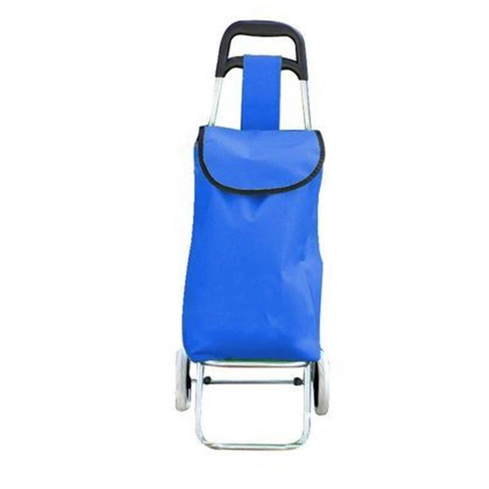 NAN 家庭用折り畳みカート小型カートトロリーカート色緑、青、赤 トレーラー (色 : 青) B07DZCB233 青 青