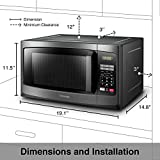 Toshiba EM925A5A-BS Microwave Oven with Sound