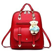 Hynbase Women's Summer Korean Leather Travel SchoolBag Backpack Shoulder Bag