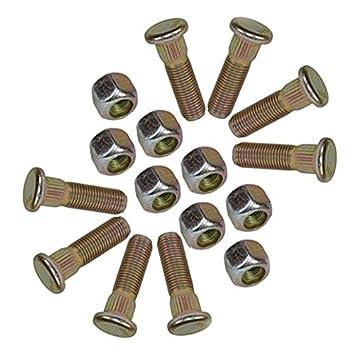 """Pack de 8 3/8 UNF espárragos y tuercas de rueda de 4"""" Tráiler"""