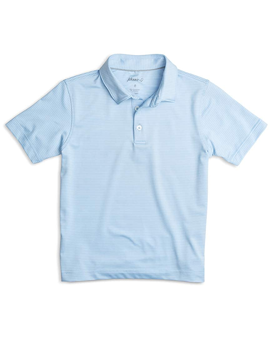 8 Gulf Blue johnnie-O Boys Polo Shirt
