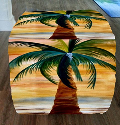 Golden-Palm-Beach-Coastal-Ottomans-From-My-Art