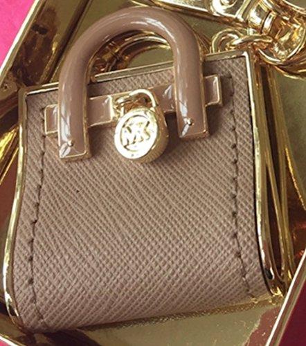 63be4ec24ee9 Amazon.com  Michael Kors Hamilton Bag Key Fob Hand Bag Charm Camel   Giftshop12