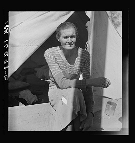 1937 Photo Dust bowl refugee from Chickasaw, Oklahoma. Imperial Valley, California.