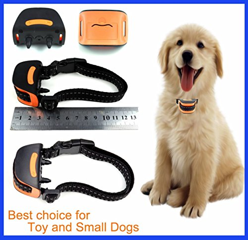 Classic MiniV (VIBRATION) No Bark Dog Collar ( Extra Small Toy Dogs 4lbs to 8lbs) Bark Training Solution. Best Anti Bark Collar (New Arrival 2017) 100% Lifetime Product Warranty
