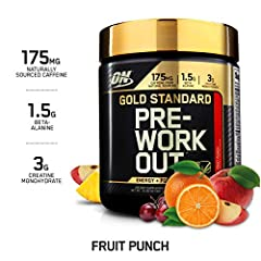 Gold standard Pre Workout sets a new standard for optimized energy and focus with caffeine from natural sources. Regular use can also help you train harder and longer with the endurance supporting qualities of beta alanine.