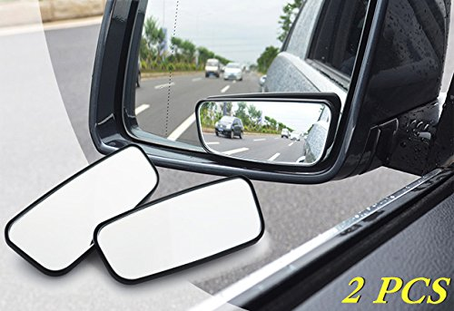 YEHAM 2 Pack 360° ABS Glass Square Blind spot Mirror Fit For All Cars