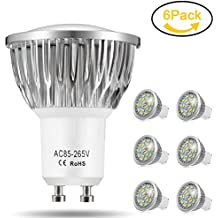 Cool White GU10 LED Bulbs Jpodream 7W Super Bright LED