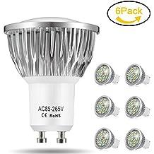 Cool White GU10 LED Bulbs Jpodream 7W Super Bright LED
