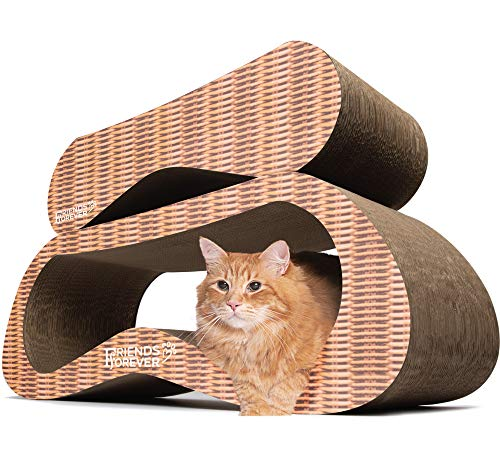 eb084648a739 Friends Forever Jumbo Cat Scratcher Cardboard Lounger, 2 in 1 Cat  Scratching Post - Corrugated