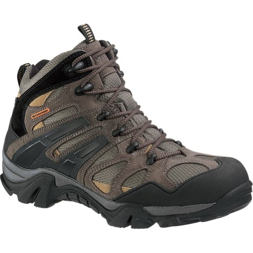 Image of the Wolverine Men's Wilderness Waterproof Hiking Boot - Gunmetal/Tan - 9 EW