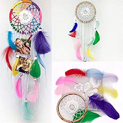 Omterior Unicorn Dream Catcher Kit Photo Display DIY Craft Kits for Teens Dreamcatcher Make Your Own Gift Wall Decor with Wood Clips (Dreamcatcher): Toys & Games