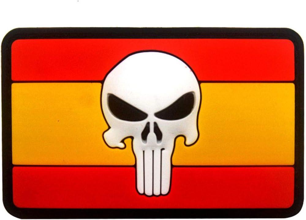 Ohrong - Parche de PVC con bandera de España, diseño de bandera de España, para combate, paintball, insignia de goma con gancho para gorras tácticas, gorras y engranajes: Amazon.es: Hogar