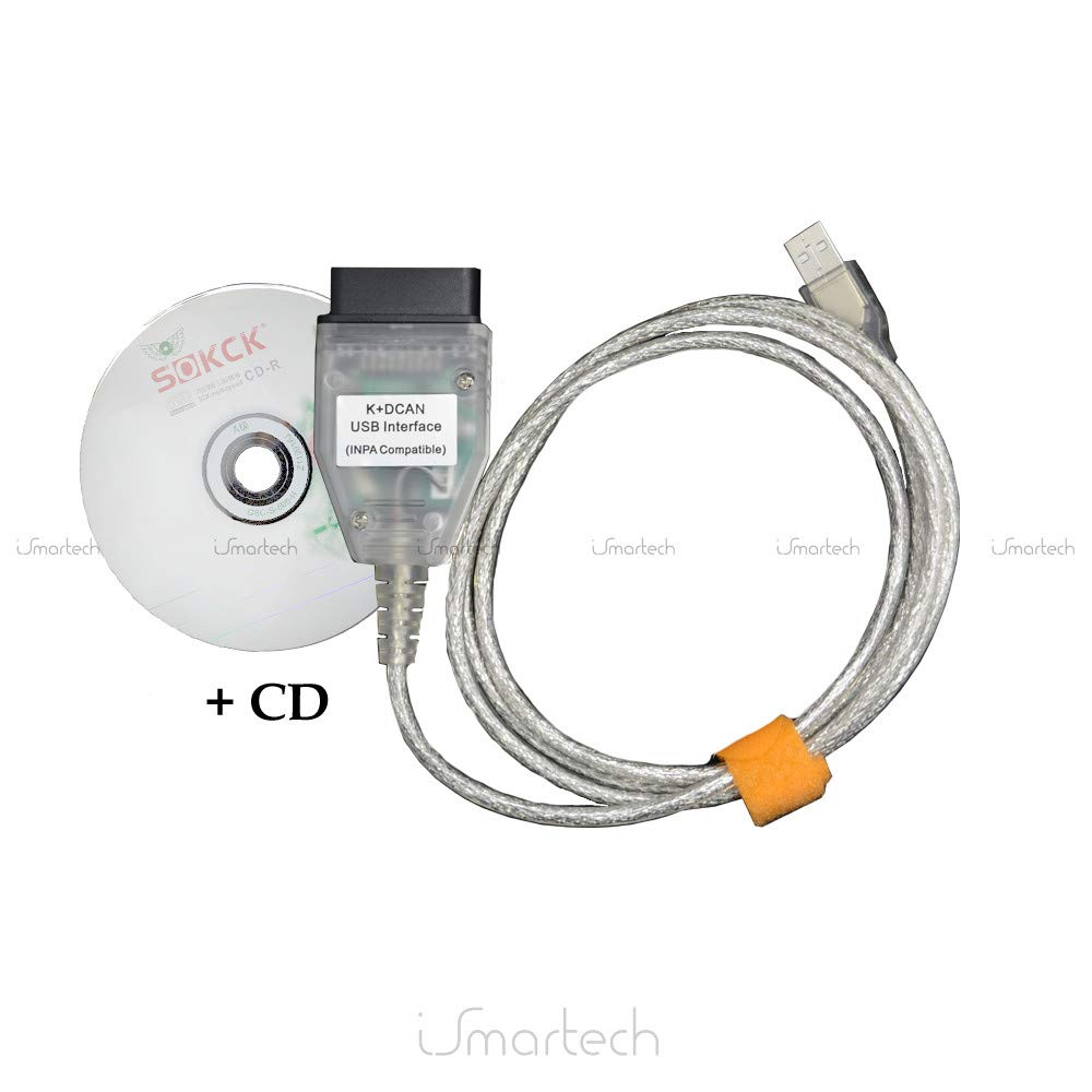 BMW/MINI Cooper cavo diagnostico K + Dcan interfaccia scanner Tool Reader Eraser programmatore completo