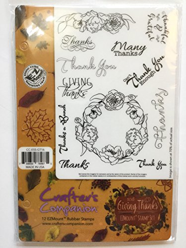 Crafters Companion 12 EZ Mount Rubber Stamps GIVING ()