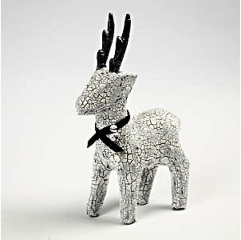 22.5cm Paper Mache Rudolph Reindeer to Decorate for Christmas