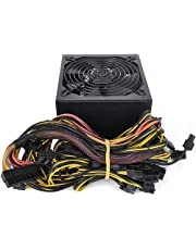 1800W Modular Mining Power Supply for 8 GPU ETH Rig Ethereum Miner with Auto-Thermally Controlled Fan Supply 110-240V Active PFC Circuit Power Source Power Equipment for Mining System