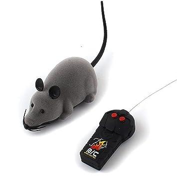 Haustierbedarf RC Elektrische Ferngesteuerte Ratte Maus für Baby Kinder Spielzeug AUS DE Neu Katzen