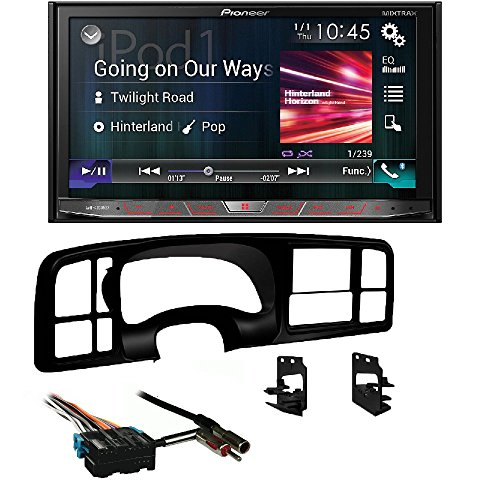 Pioneer AVH-4200NEX 2 DIN DVD/CD Player Bluetooth HD Radio Android Auto CarPlay Metra Double DIN Car Stereo Radio Install Dash Kit for 1999-02 Silverado/Sierra