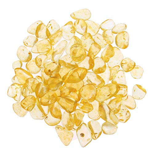 (Cacys-Store - 100g Citrine Stones Brazil Artificial Yellow Crystals for Reiki Healing Home/Planting Pot/Fish Tank Decor Craft)