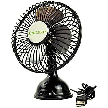 Amazon Com Glamouric Small Usb Desk Fan Mini Metal