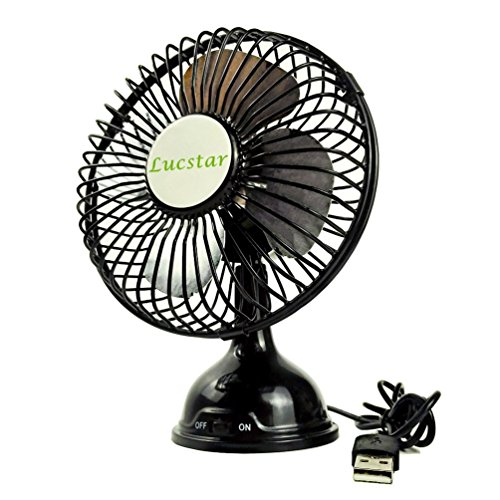 Lucstar Lucstar Retro Desk Fan USB Powered Quiet Powerful Table Personal Fan for Office Home Desktop Laptop, Small 4 Inch Portable Elegant Pedestal Vintage Cooler Black price tips cheap