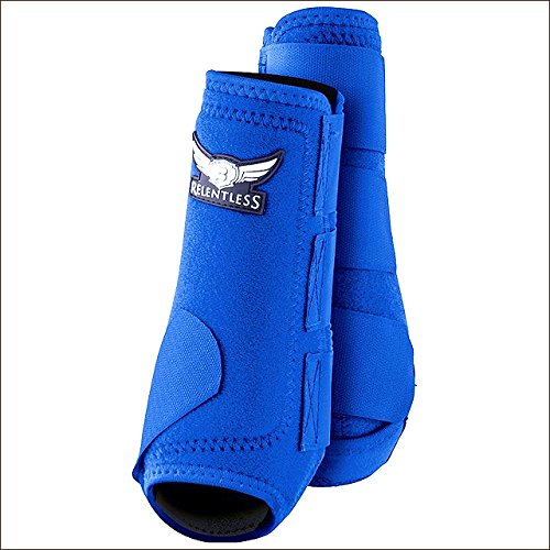 CACTUS ROPES Large Relentless All Around Horse Leg Sport Boot 4 Pack Royal Blue