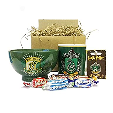 Harry Potter Slytherin Gift Set with Breakfast Bowl, Mug, Pin ...
