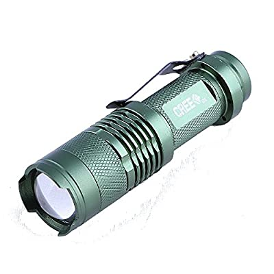 Hatori Mini Led Flashlight Torch Adjustable Focus Light Lamp(Blue)