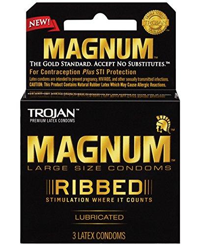 Trojan Magnum Ribbed Condoms 3