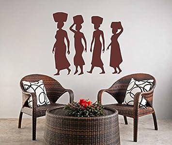Pochoir r/éutilisable pour femmes africaines A3 A4 A5 /& ‿plus grandes tailles Style oriental moderne // P1 50 x 70 cm Pochoir en PVC r/éutilisable 19.7 x 27.6 in XS size