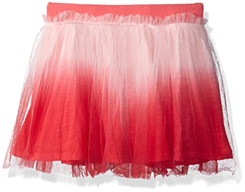 - Flapdoodles Little Girls' Dip Dye Tutu Skirt with Short Under, Coral, 6