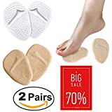 Medical Gel Forefoot Shoe Insole Metatarsal Pads Ball of Foot Cushions for Women High Heels to Pain Relief, 2 Pairs (Clear + Skin). LIMITED TIME SALE 70% OFF